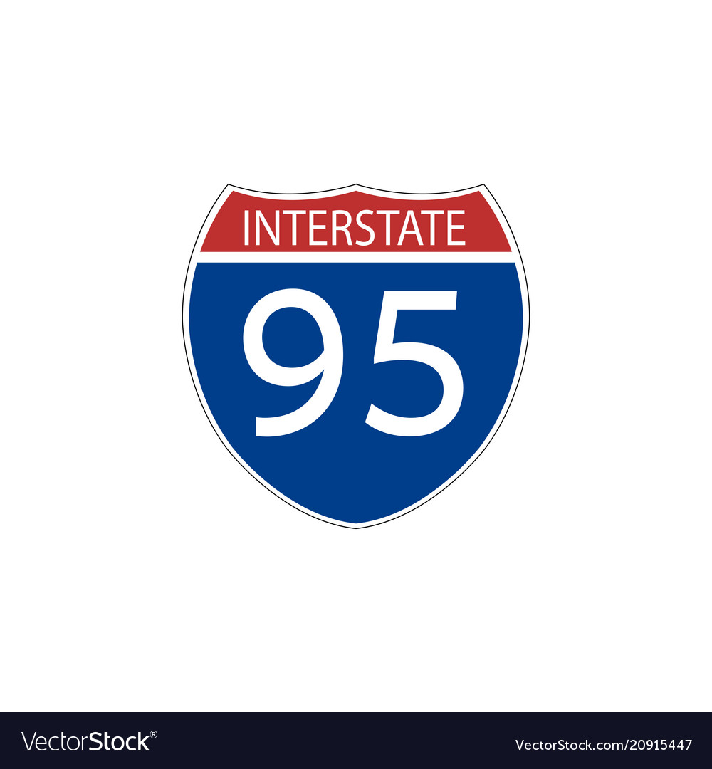 Usa traffic road signs interstate route sign