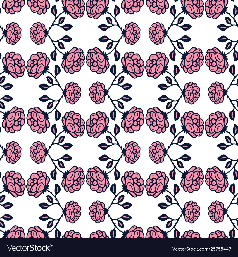 Vintage roses background floral seamless pattern