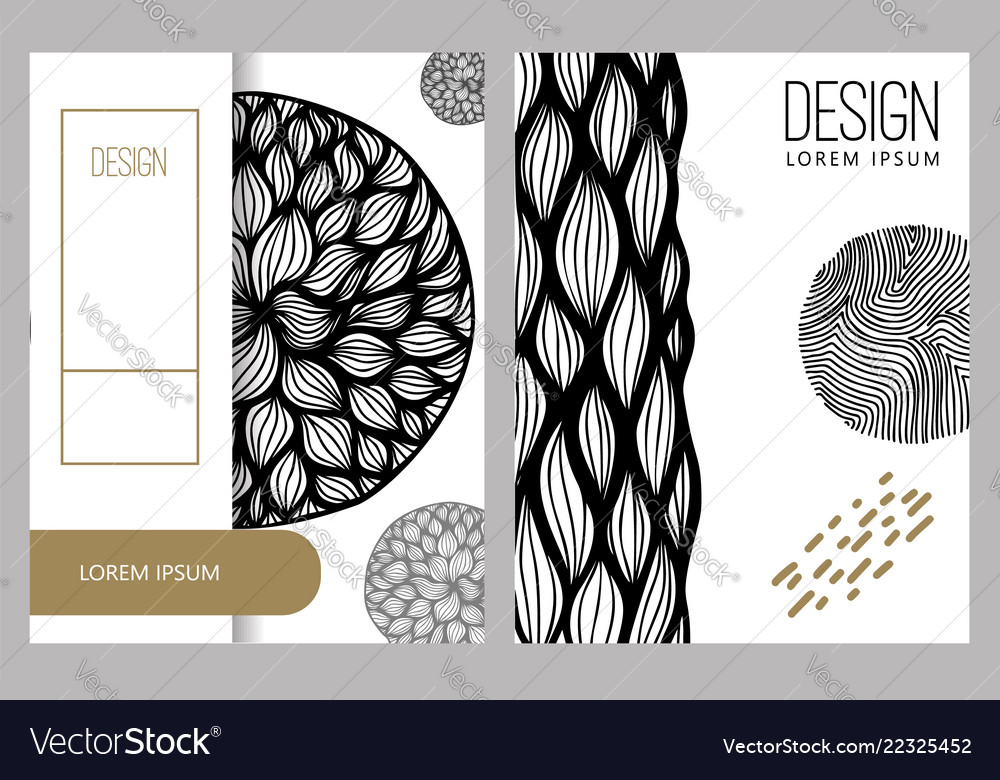 Abstract background with hand drawn design