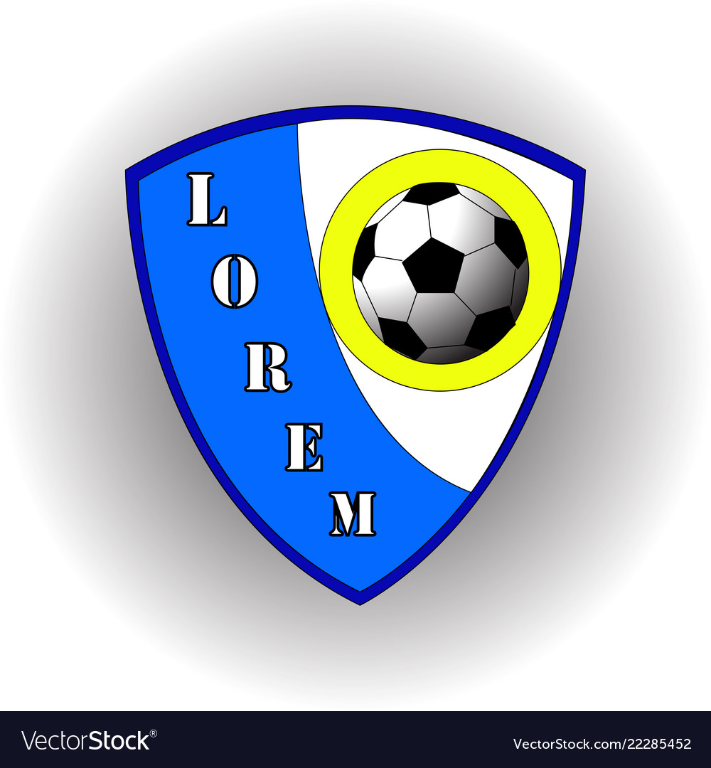 Abstract blue logo of the football team