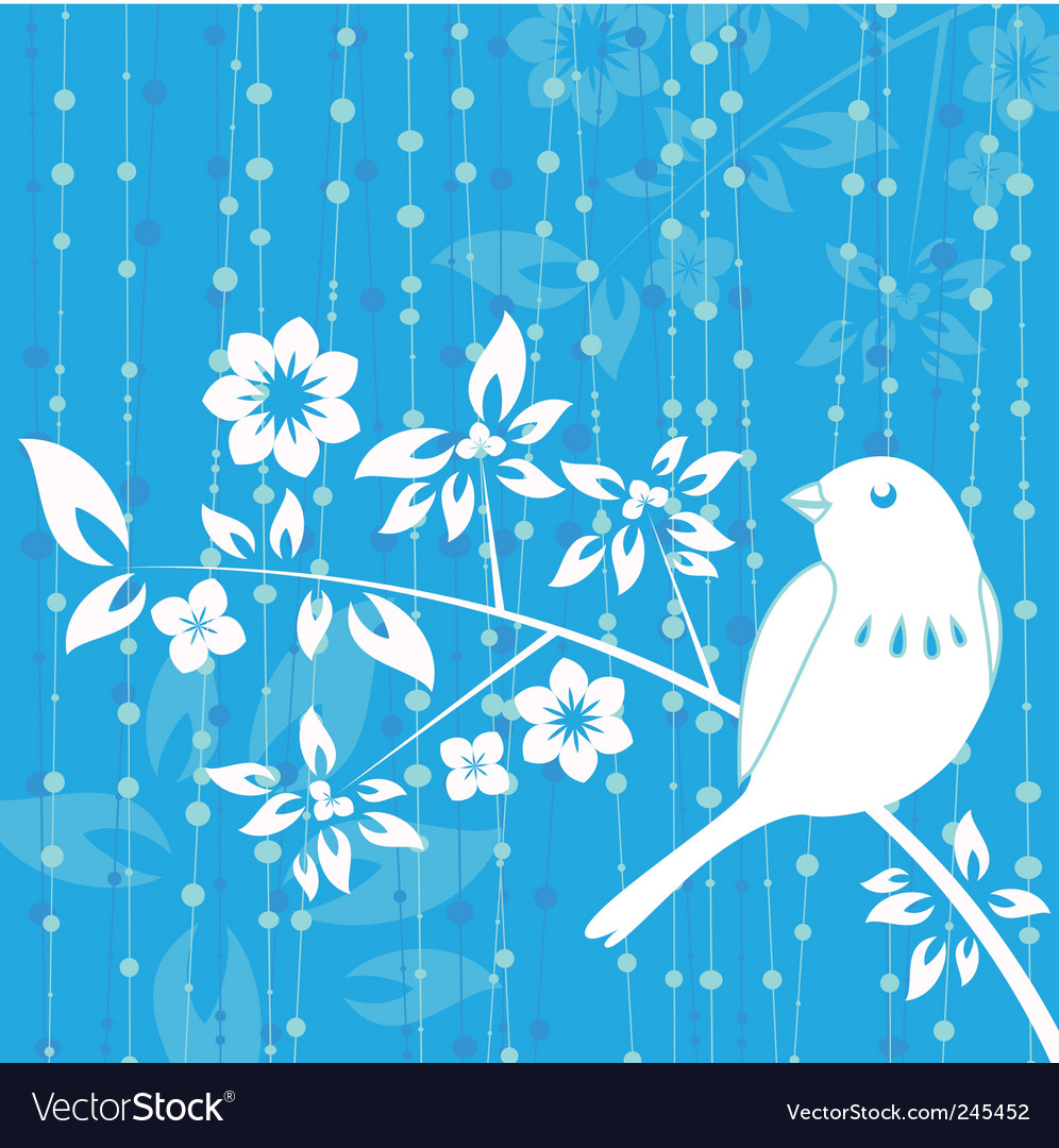Bird decoration vector image