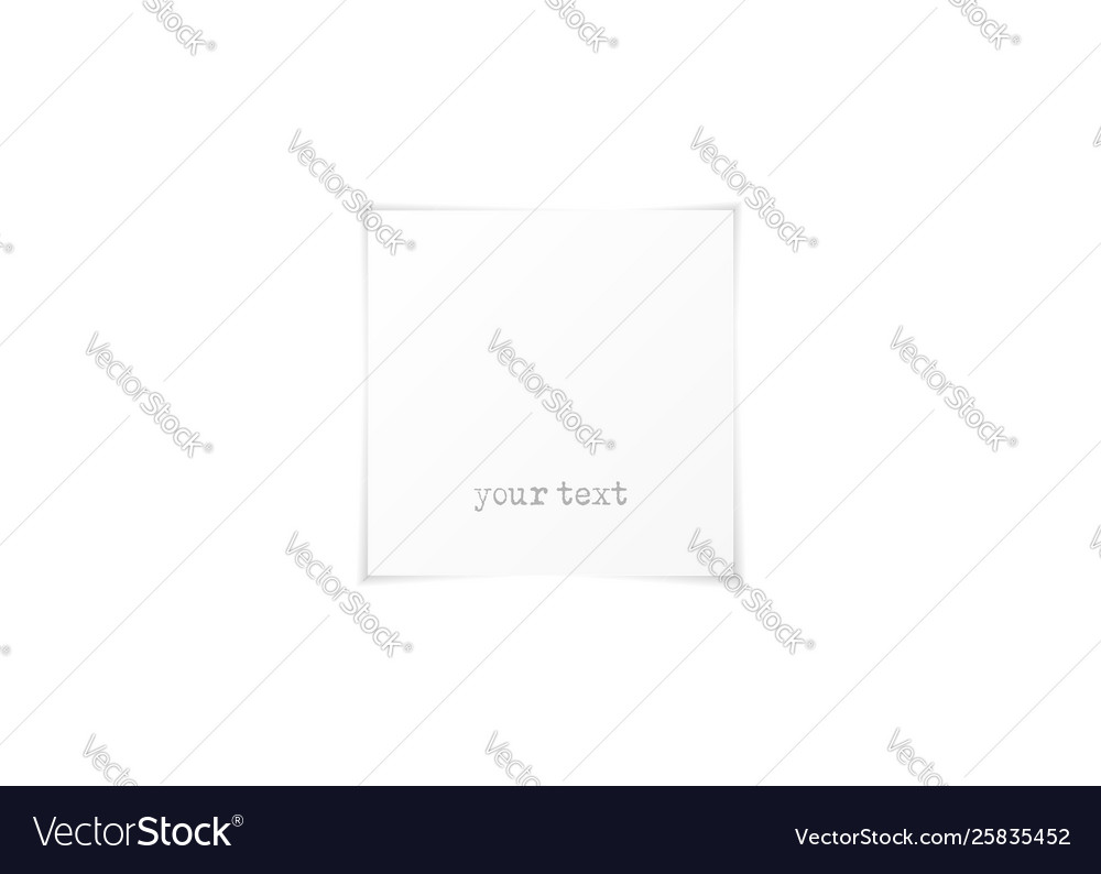 Empty white paper sheet with shadow square shaped