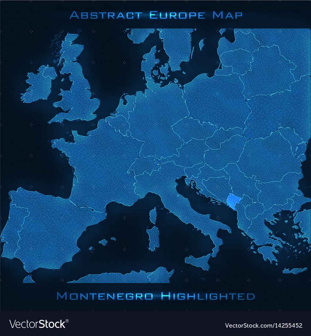 Europe Abstract Map Montenegro Royalty Free Vector Image