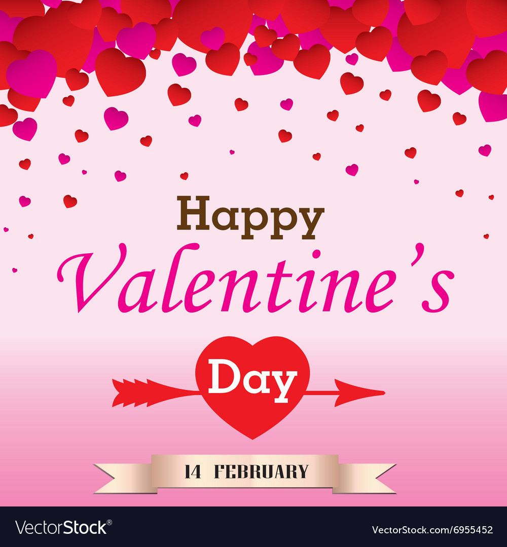 Happy Valantines Day on white background