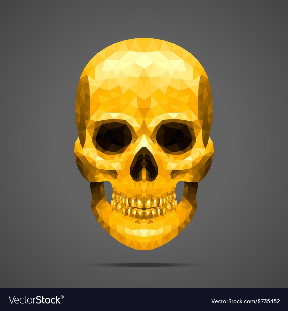Polygonal gold skull