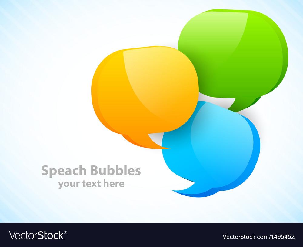 Three speech bubbles vector image