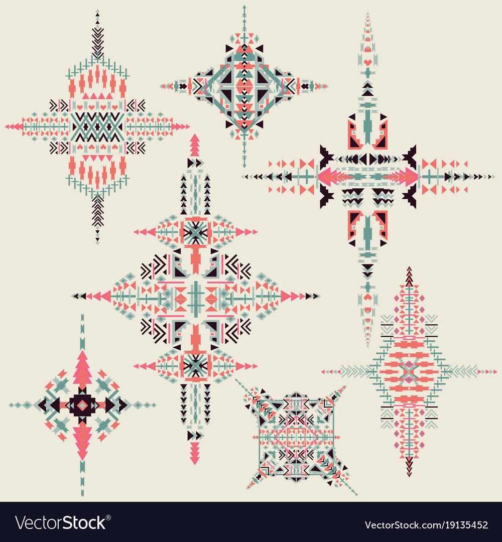 Tribal ethnic ornament aztec decor
