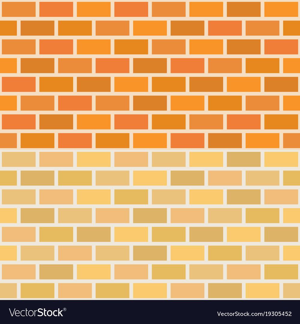 Wall brick in two tone seamless pattern
