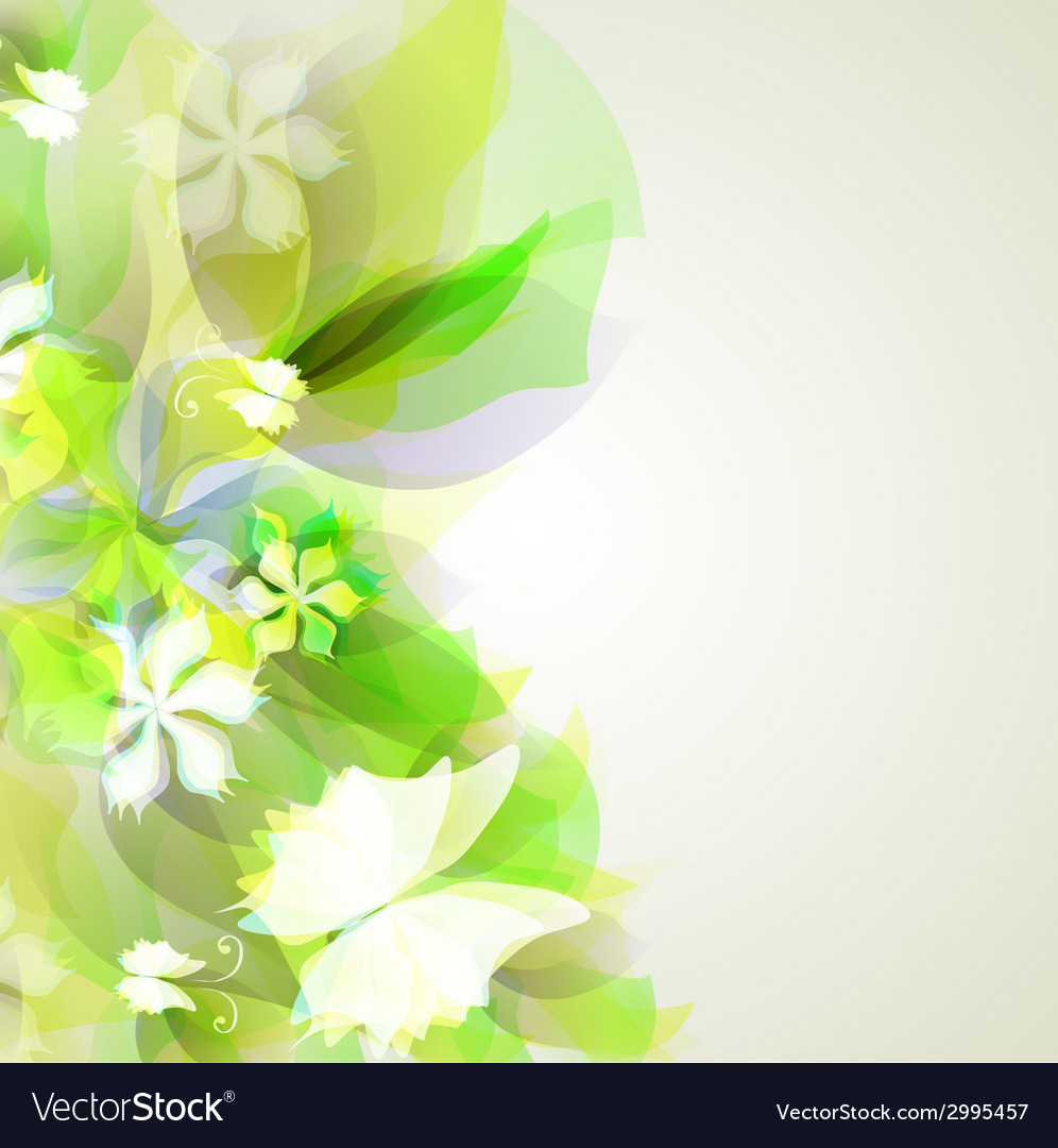 Abstract Artistic Background With Yellow And Green