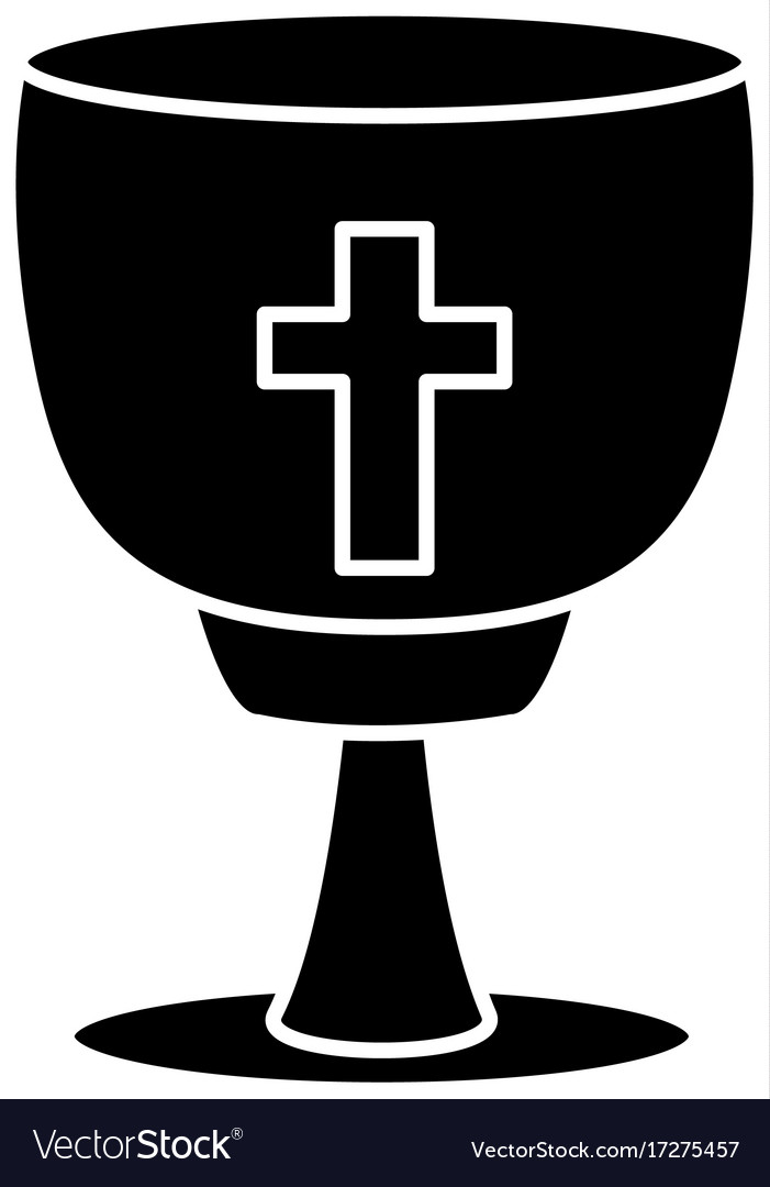 Catholic Cross Chalice Royalty Free Vector Image