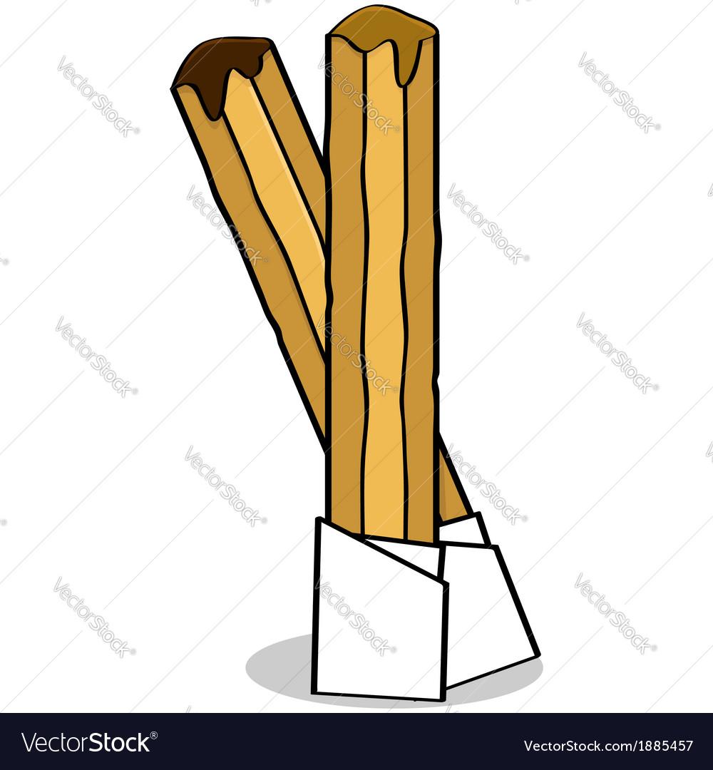 Churros vector image
