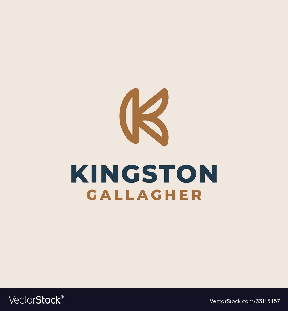 Creative professional trendy monogram k logo