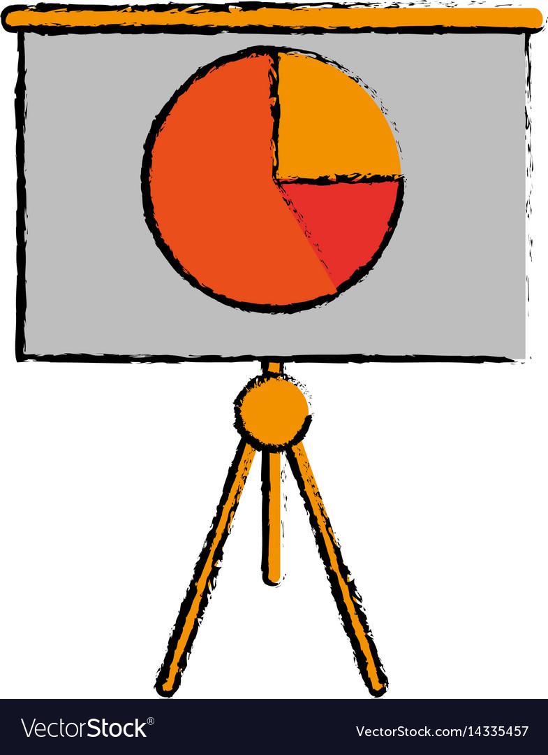 Drawing business presentation chart finance board
