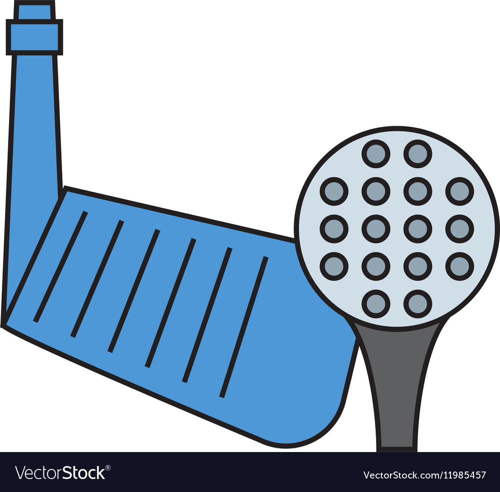 Golf putter and ball on white background