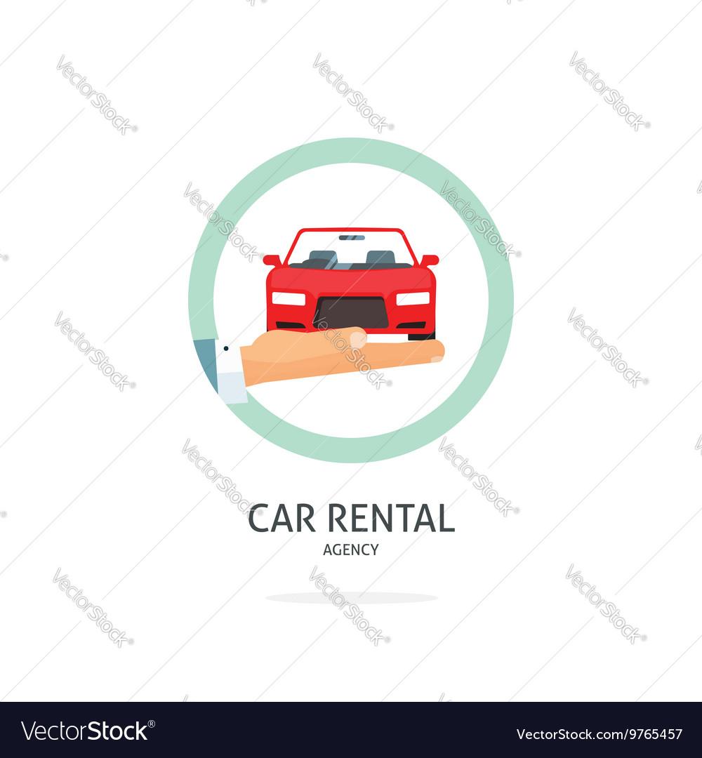 Rent a car agency logo rental automobile