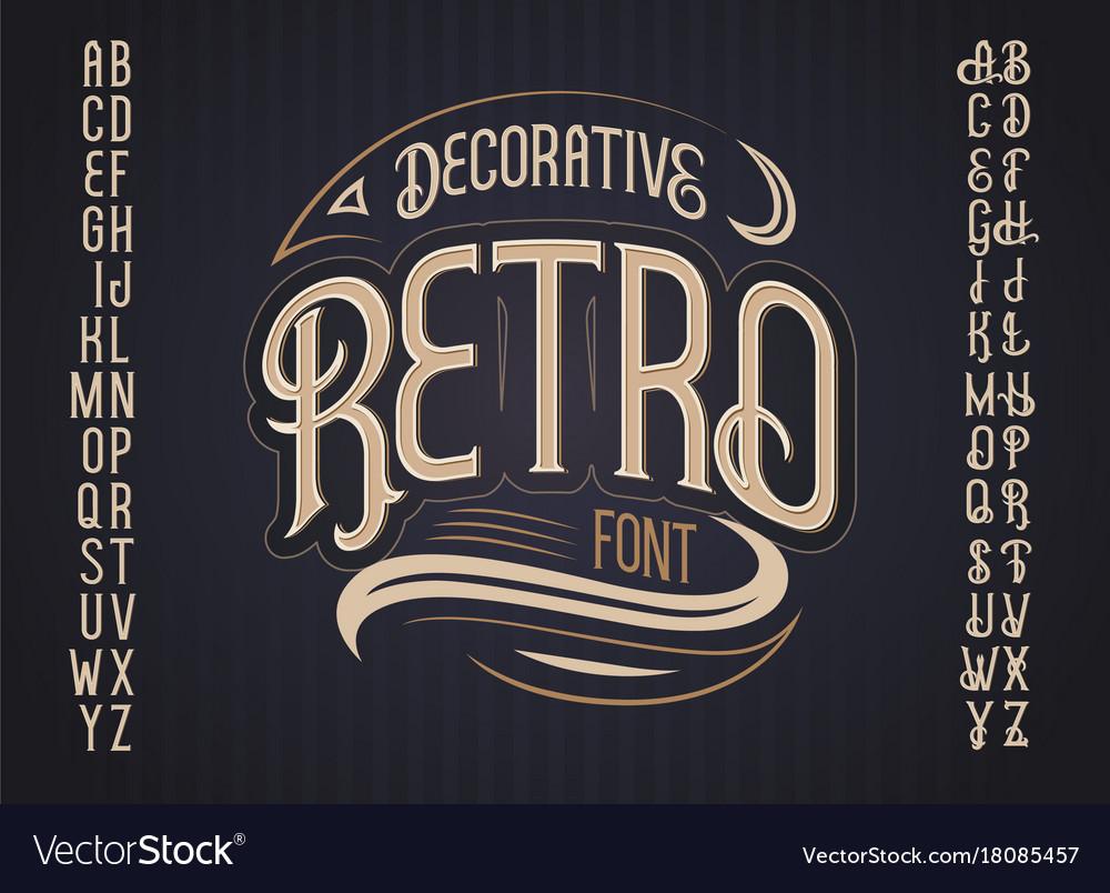 Retro typeface font