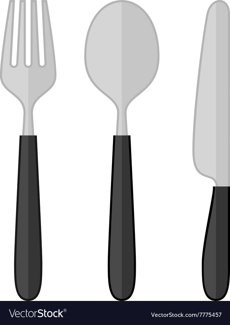 Spoon Fork Knife Royalty Free Vector Image Vectorstock