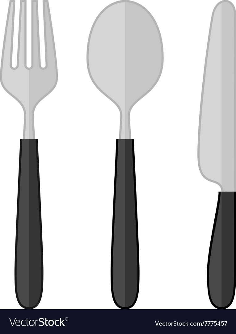 Spoon Fork Knife Royalty Free Vector Image Vectorstock