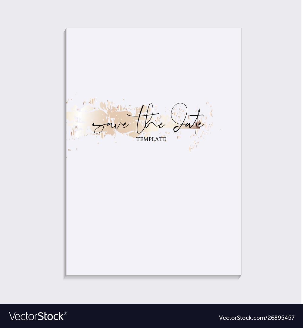 Tender soft gold design wedding save date