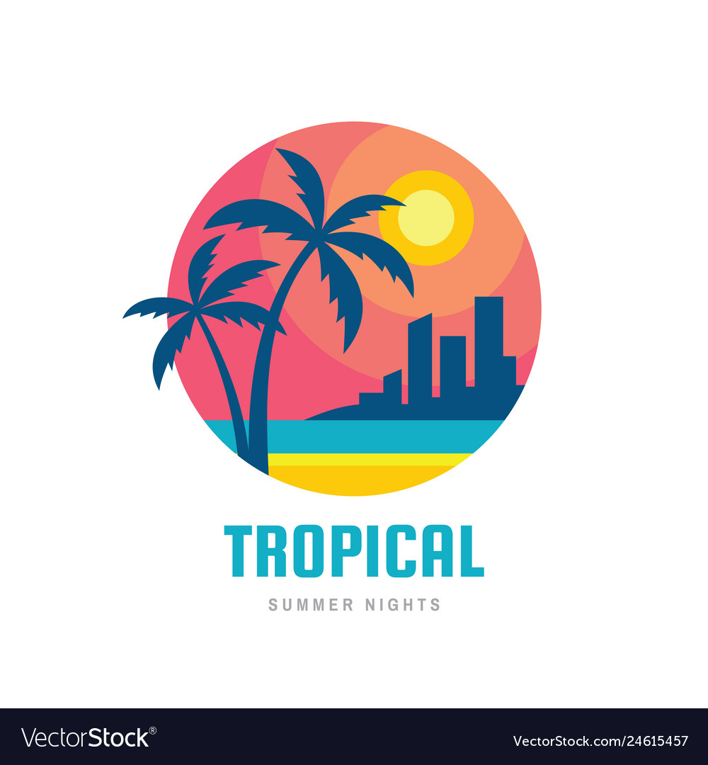 Tropical summer holiday - concept business design