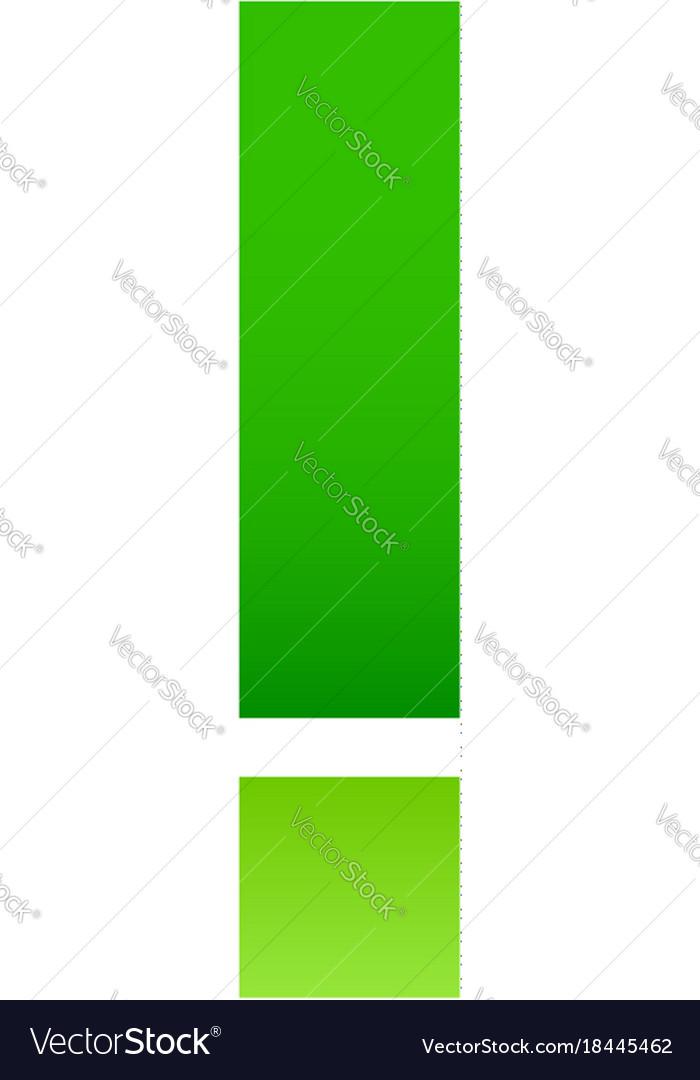 Alphabet of folded paper letter