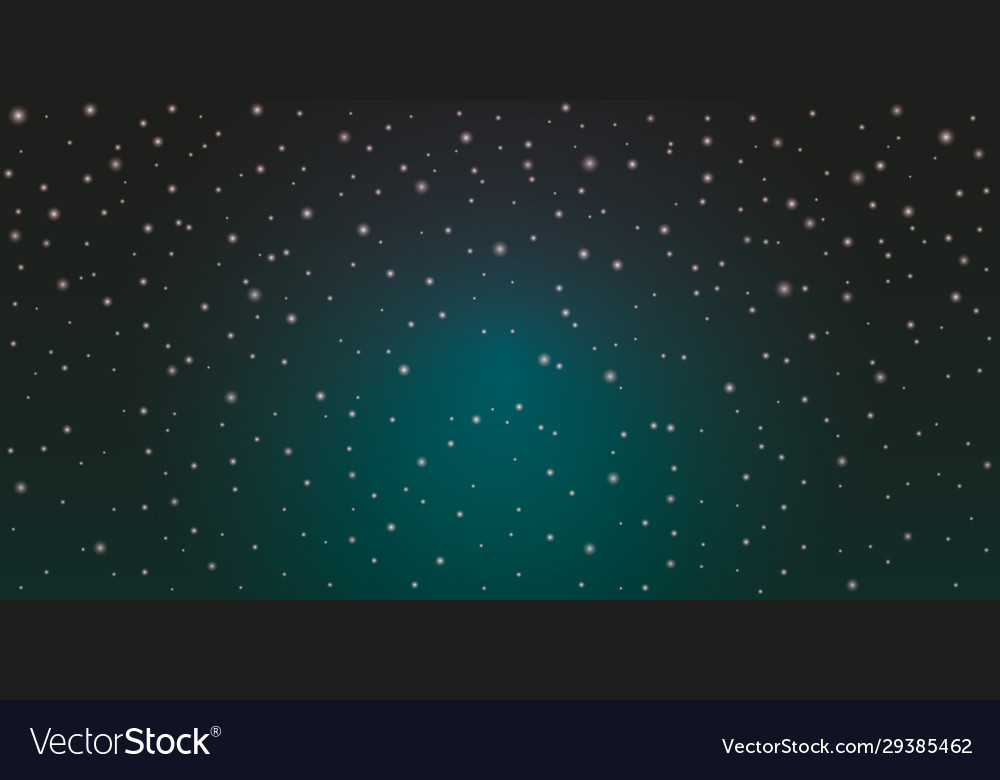 Blue space background with stars cosmos night