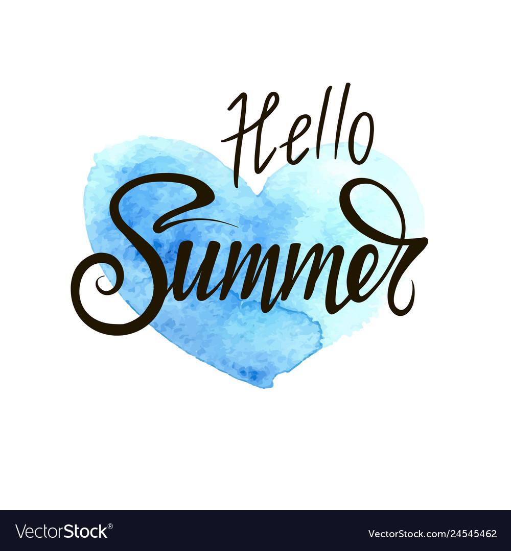 Hello summer inscription
