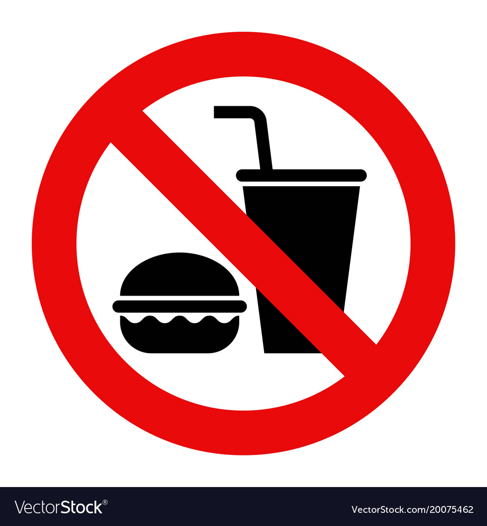 No Food And Drinks Allowed Sign