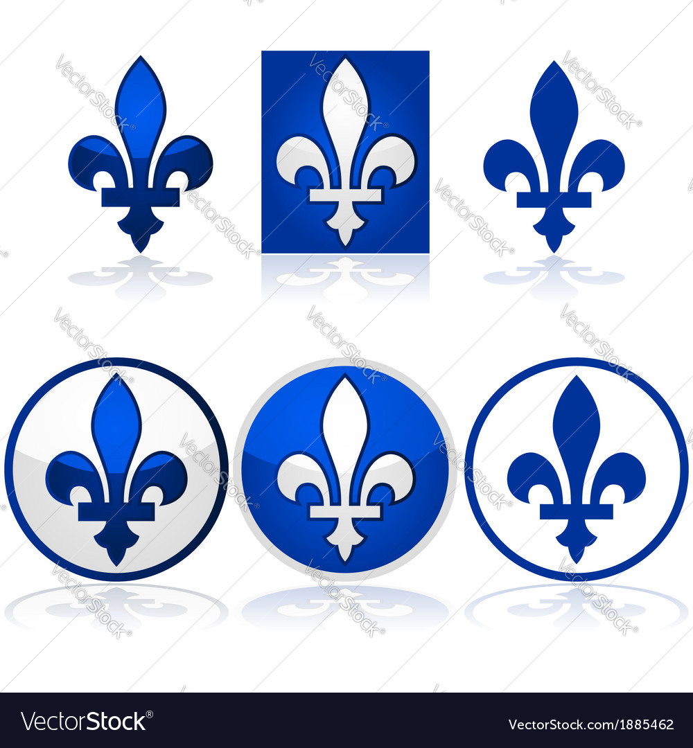 Quebec Fleur De Lys Royalty Free Vector Image Vectorstock