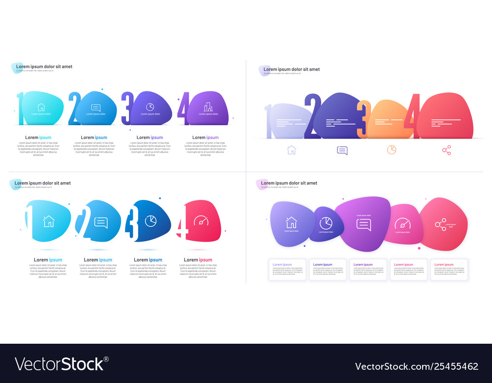 Set infographic templates composed of