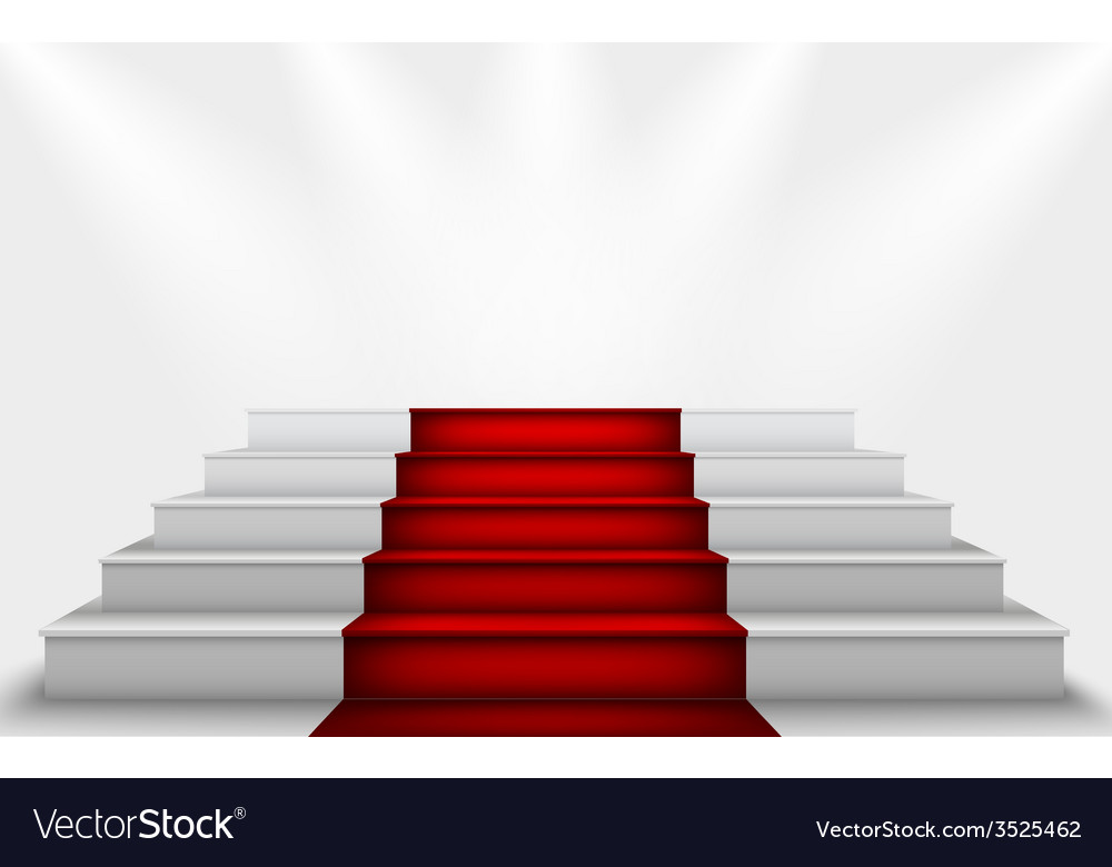 Stairs to the podium