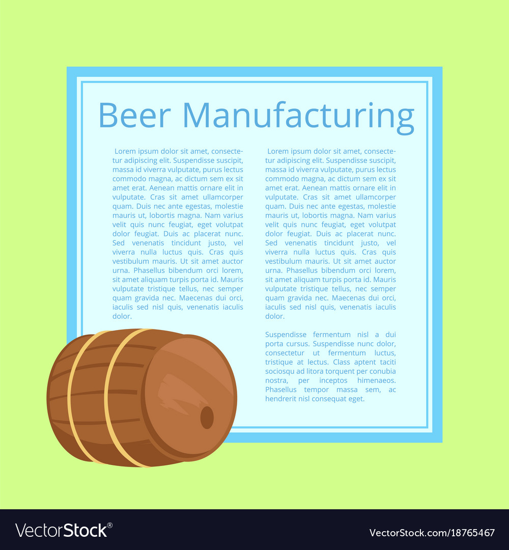 Beer manufacturing with text