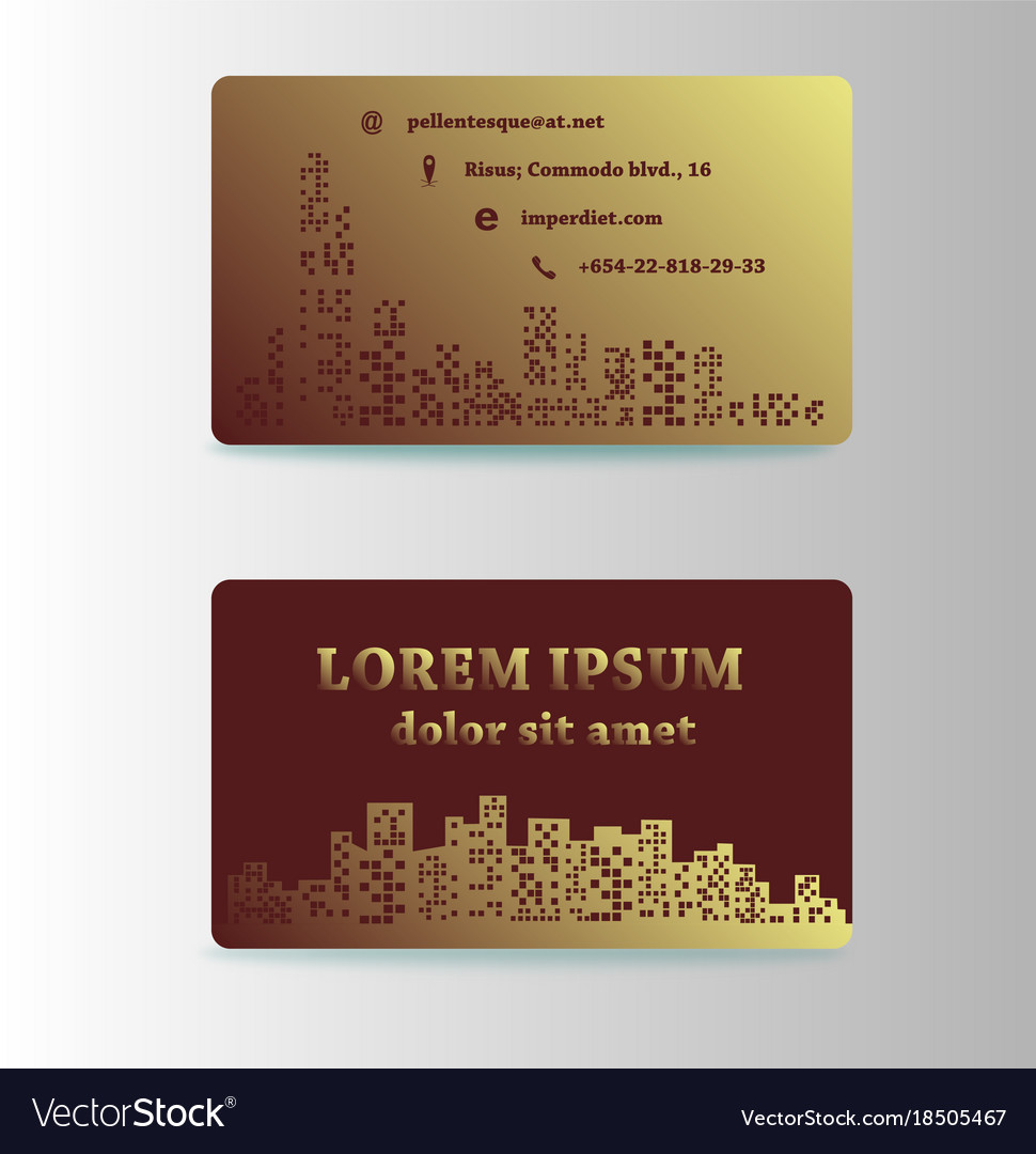 Detailed business cards for cafe and restaurant vector image reheart Choice Image