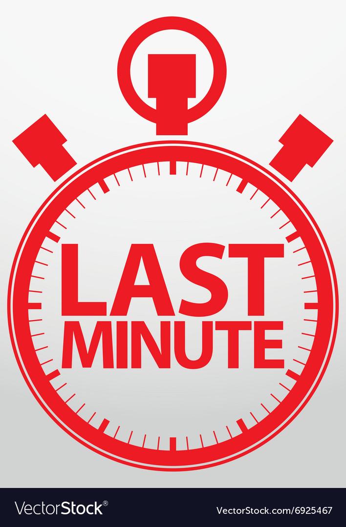 Last minute stopwatch icon