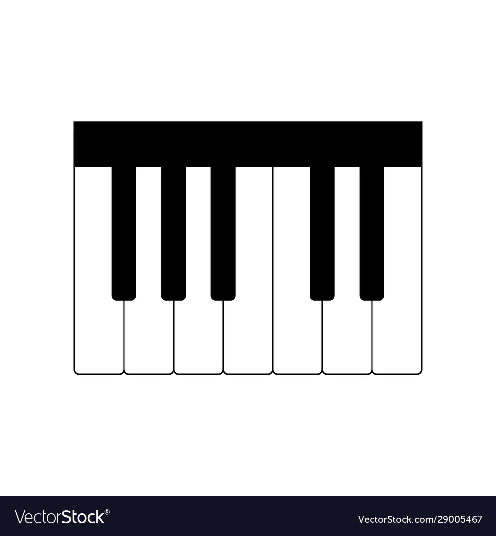 Piano Keyboard Icon On White Royalty Free Vector Image