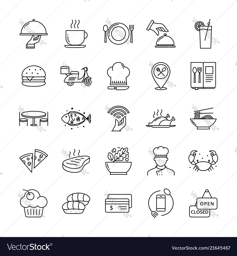 Restaurant icon set suitable for infographics