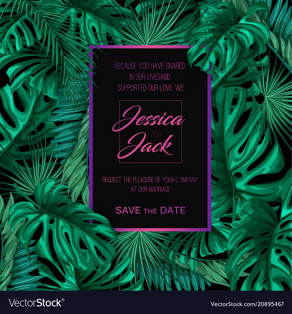 Tropical exotic leaves summer sale banner