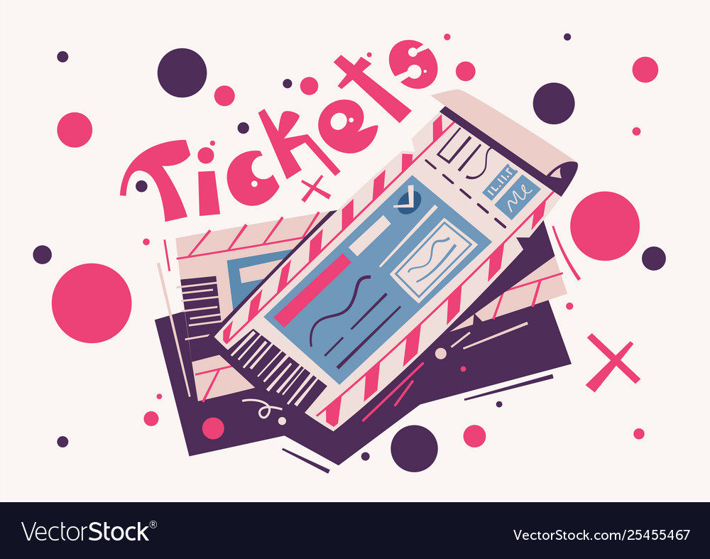 Two tickets cartoon event