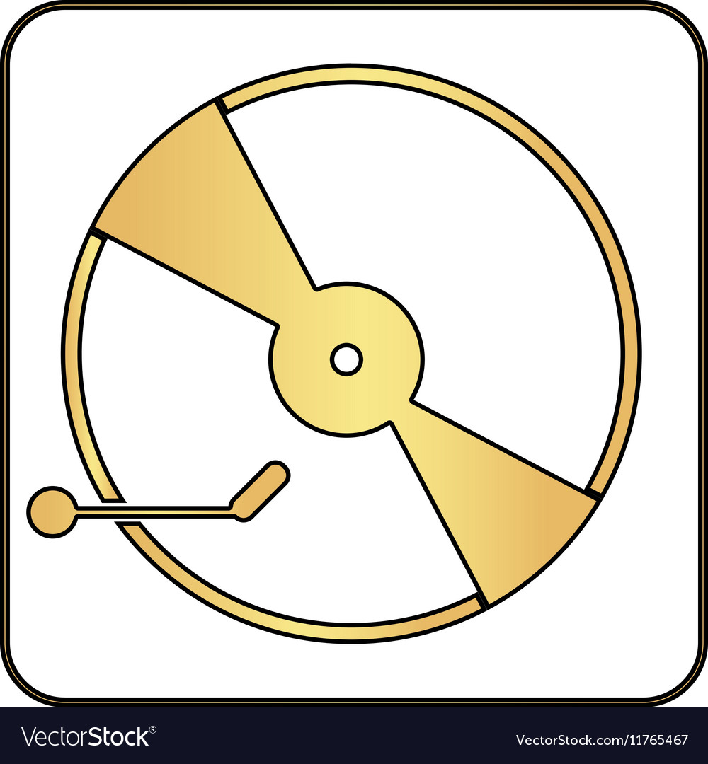 Vinyl turntable computer symbol
