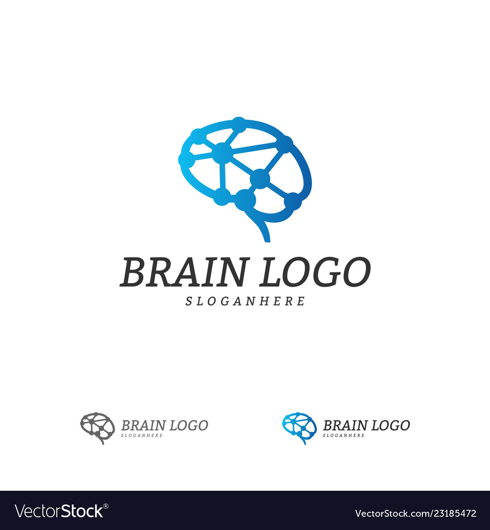 Brain logo template brain logo concepts