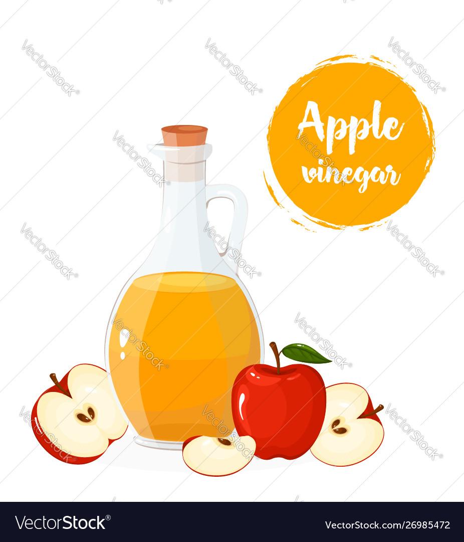 Glass bottle apple cider vinegar