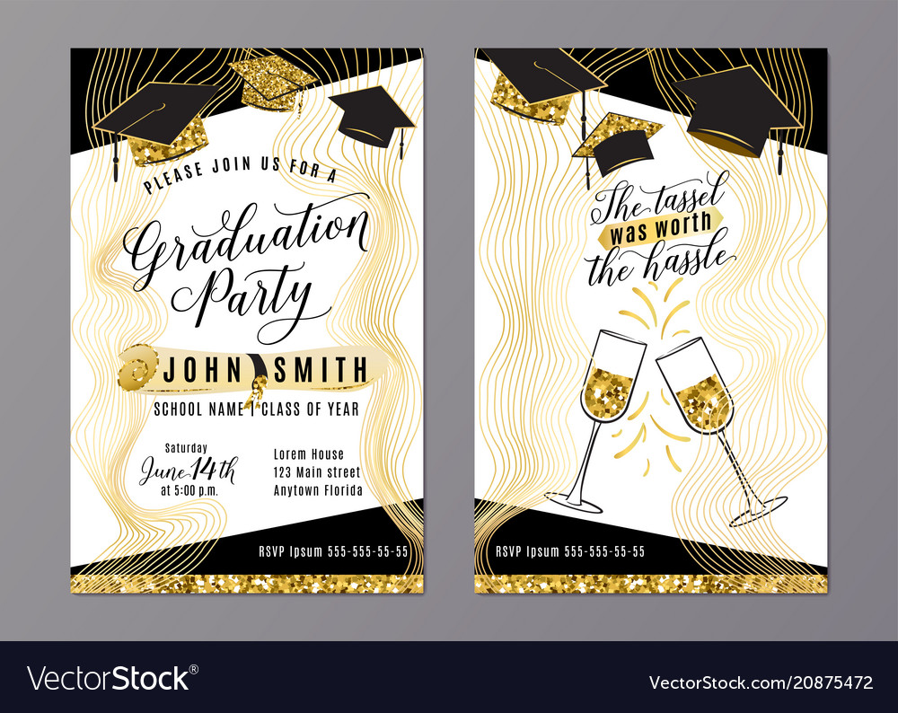 Graduation party class of 2018 vertical invitation