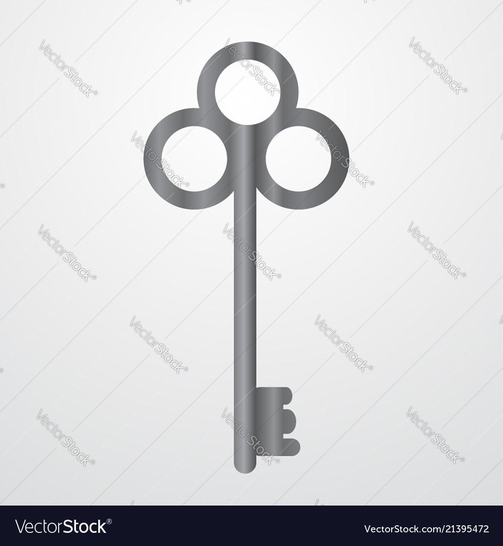 Gray gradient key icon for web design