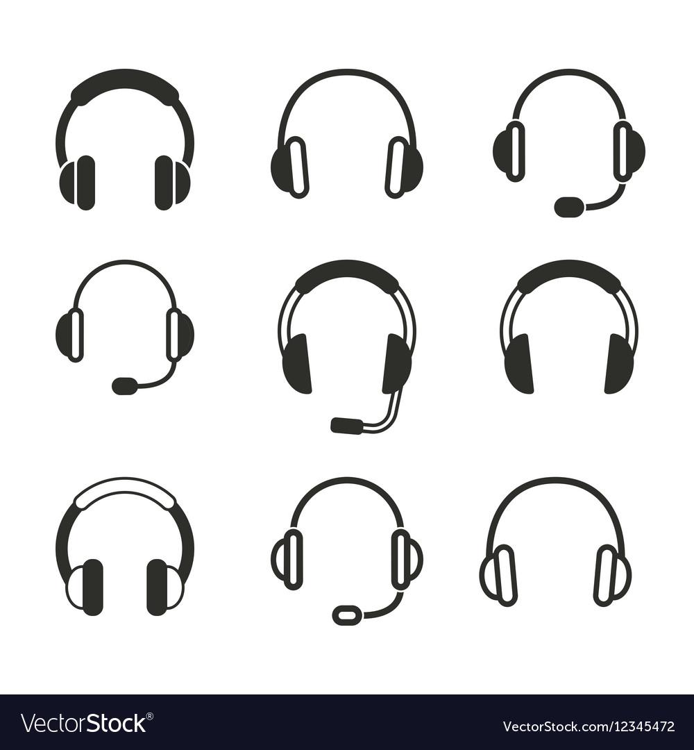 Headphone icon set