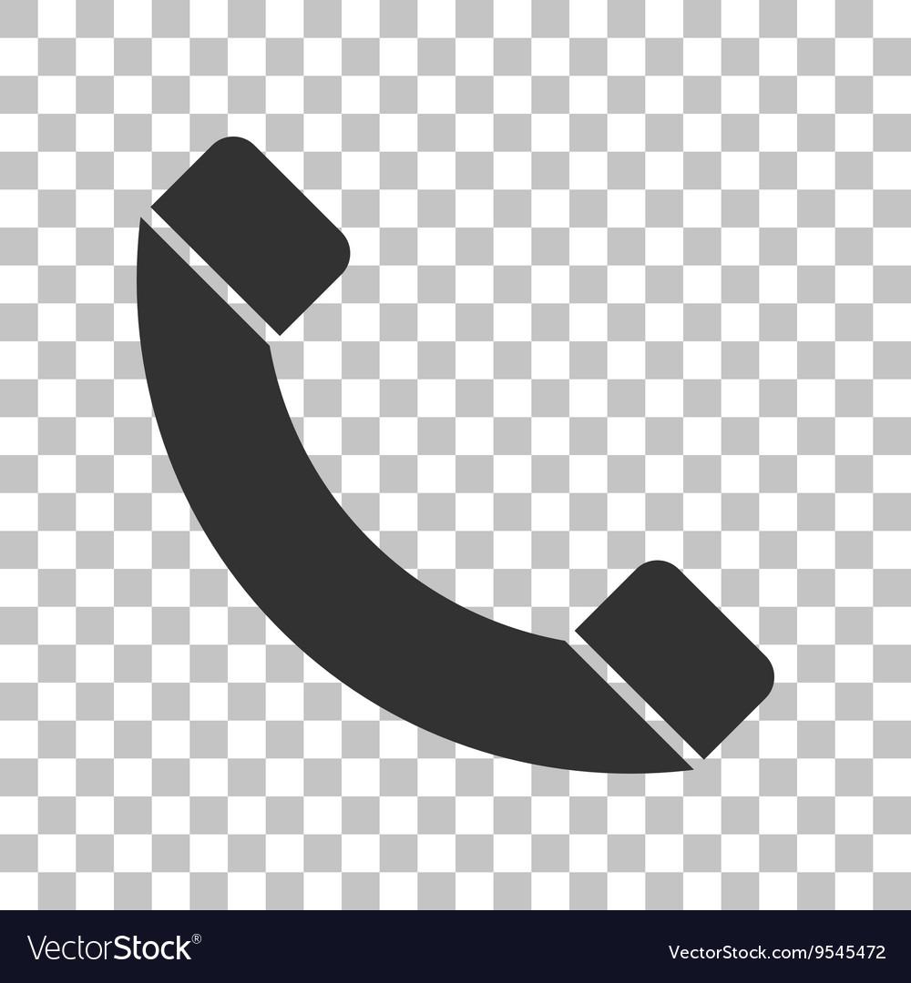 Phone sign Dark gray icon on vector image
