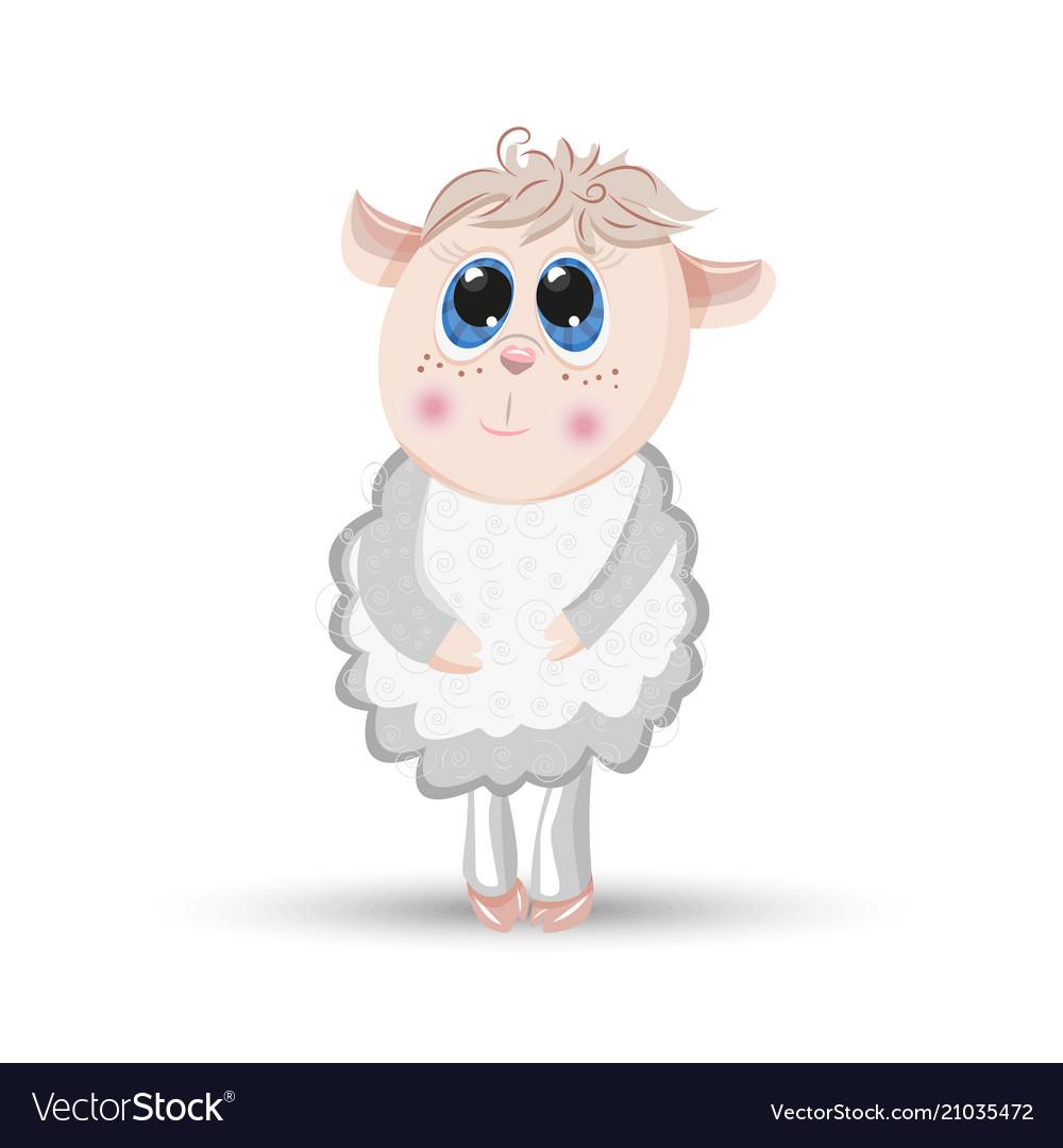 Sheep animal cartoon furry lamb character
