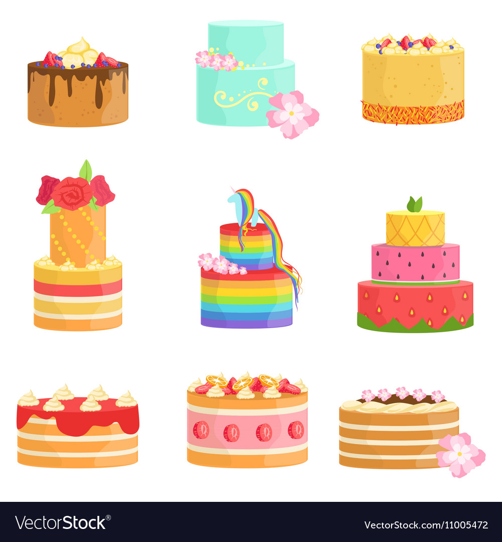 Special Occasion Decorated Cakes Assortment
