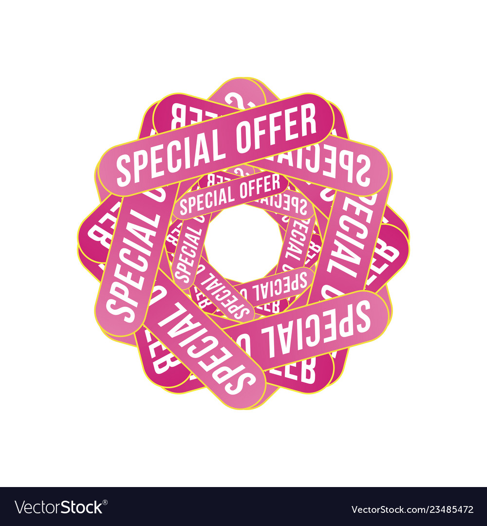 Special offer sign template design for