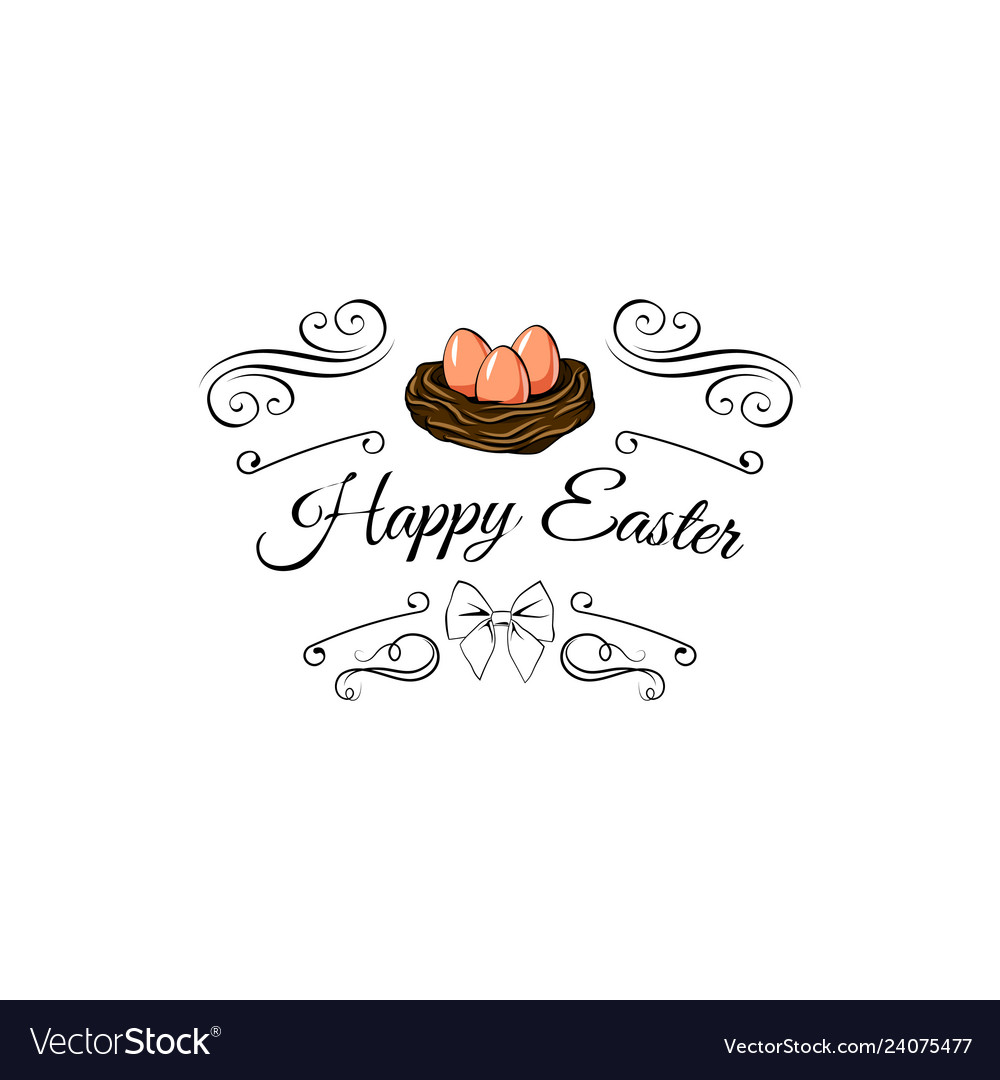 Hapy easter label