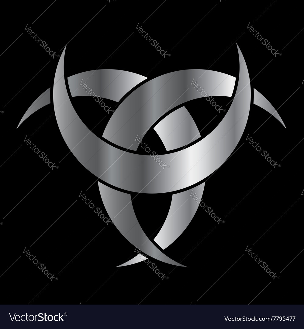 Horned Triskele The Horn Of Odin Royalty Free Vector Image